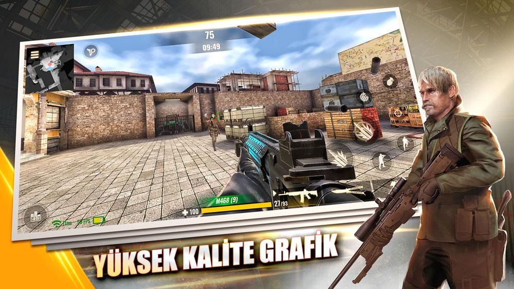 Zula Mobile yüksek kalite oyun grafikleriyle gerçekçi bir MMOFPS deneyimi sunuyor.